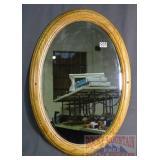 Nice Oak Framed Oval Wall Mirror.