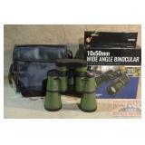 Brand New SE 10X50mm Wide Angle Binoculars, Green.