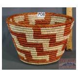 "Wonderful Hand Coiled 7.5"" Basket."