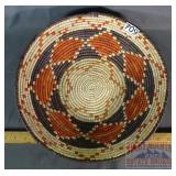 Hand Coiled Native Am. Style Basket.