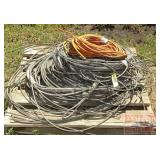 Large Assortment of Braided Wire Cable & Cords.