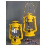 2 Classic Style Yellow LED Lanterns.