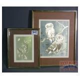 2 Framed Metallic Prints.
