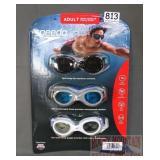 3New Pair Speedo Adult Goggles