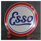 """New Large 23"""" """"Esso"""" Embossed Tin Sign."""