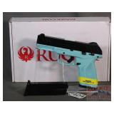 New Blue Ruger Security-9 9mm SA Pistol.