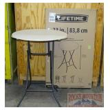 "2 New Lifetime 33"" Folding Bar Height Tables."