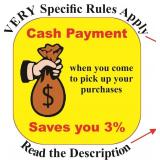 PAY WITH CASH AND SAVE $$$$$$$$