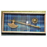 """Shadow Box with Axe (12"""" X 25"""")"""
