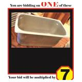 "Stainless Steel 1/3 Food Pans (6"")"