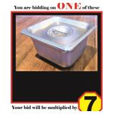 """Stainless Steel 1/6 Pans  with Lids (4"""")"""