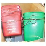 Sanitizer Buckets and Squirt Bottles