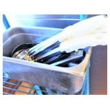 Pan of Serving Spoons