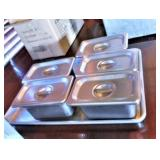 "Sainless Steel 1/9 Pans with Lids (4"")"