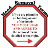 ***SPECIAL HOOD REMOVAL TERMS***