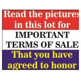 Please read the terms of sale (see pictures)