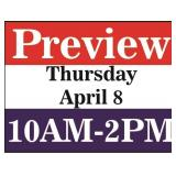 Preview-Thursday, April 8 from 10 AM-2 PM