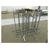 (5) 4-Way Display Racks, Adj. Height., 35 x 35