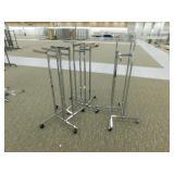 (3) 4-Way Racks, WHEELS, Adj. Height., 35 x 35