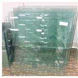 (10) 22X22 Glass Shelves