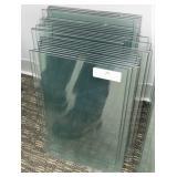 (24) 10X16 Glass Shelves