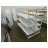 """Metal Gondola Wooden Shelves, 36""""X61""""X60""""h"""