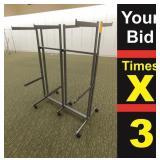 "Metal Display Rack, 42""w Adjustable Height"