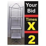 """Display Shelf, Metal Frame Shelf, 24""""X24""""X86""""h"""