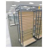 Slat Wall Display 25X34X72h, 2 Sided 2  Shelves