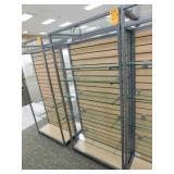 Slat Wall Display 25X34X72h, 2 Sided 5  Shelves