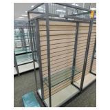Slat Wall Display, 25X34X72h, 2 Sided 1  Shelf