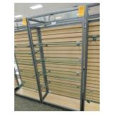 Slat Wall Display 25X34X72h, 2 Sided 4  Shelves