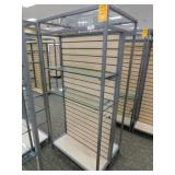 Slat Wall Display, 25X34X72h, 2 Sided No Shelves