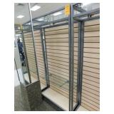 Slat Wall Display, 25X34X72h, 2 Sided 4  Shelves