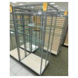 "Display 3 Glass Shelf, 25""X34""X72""h"