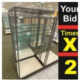 """Display 8 Glass Shelves, 25""""X34""""X72""""h"""