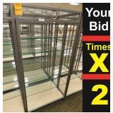 """Display 7 Shelf, 25""""X34""""X72""""h"""