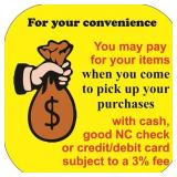 Paying for your items (online bidders)