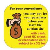 Paying for your items (live bidders)