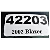2002 Chevy Blazer -- miles/hours  57900