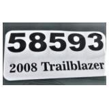2008 Chevy Trailblazer -- miles/hours  132760