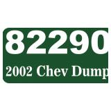 2002 Chevy Dump Truck -- miles/hours  86148