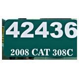 2008 CAT 308C -- miles/hours  2644