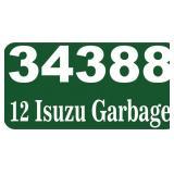 2012 Isuzu rear loader - miles/hours 117025