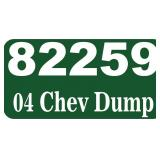 2004 Chevy Dump -- miles/hours  70303