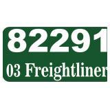 2003 Freightliner Dump -- miles/hours  63436