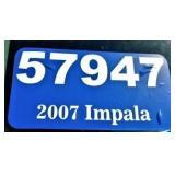(57947) 2007 Chevy Impala -- miles 90053