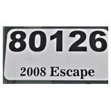 (80126) 2008 Ford Escape -- miles 82138