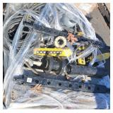pallet of hydraulic cylinders, lift switches