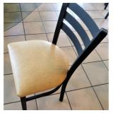 DINING CHAIR, WELDED METAL (your bid times 14)